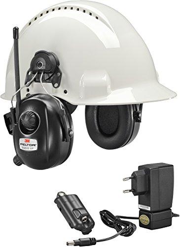 Hörer-anschluss (3M Peltor Radio XP Helm mit Gehörschutz-Radio, 32 dB / Zuverlässiger Ohrenschutz mit integriertem Radio & MP3 Anschluss / Ideal für Forst und Landarbeit)