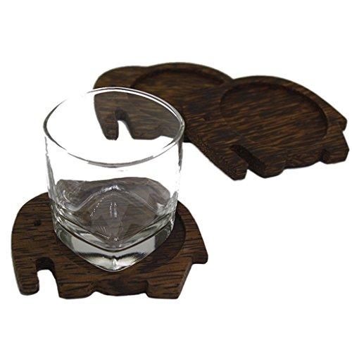 Amara Coasters003 Elephant Untersetzer Palm Wood -