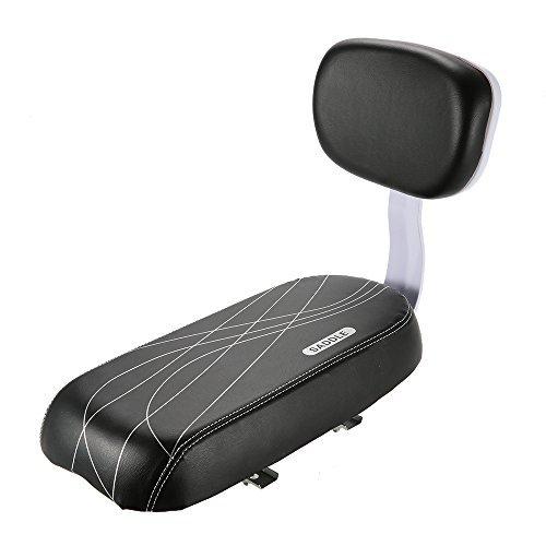 Lixada Sedile Posteriore per Bicicletta Ciclismo MTB PU Spugna in Pelle Morbido Cuscino Posteriore Rack Seat Sedile per Bambini con Schienale, Installazione Semplice, capacità di Carico: 45kg (99lb)