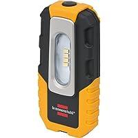Brennenstuhl LED Akku-Handleuchte HL DA 40 MH (Akku Handleuchte mit Schalter und integriertem Magnet, 4 leuchtstarke SMD-LEDs, knickbarer Haltefuß) schwarz/gelb
