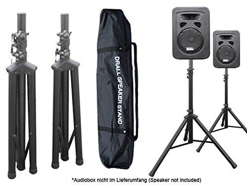 DRALL INSTRUMENTS 2 Stück Boxenständer Stativ Ständer mit Tasche für Audio Speaker Lautsprecher Modell: BS3x2_BS3TKx1