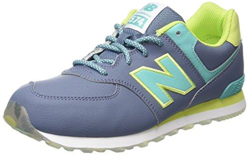 New Balance Unisex-Kinder 574 Hohe Sneakers Mehrfarbig (Yellow/Aqua 737Yellow/Aqua 737)