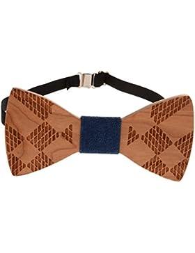 Sharplace Pajarita Corbata de Madera Novedad Ideal para Hombres Fiesta Boda