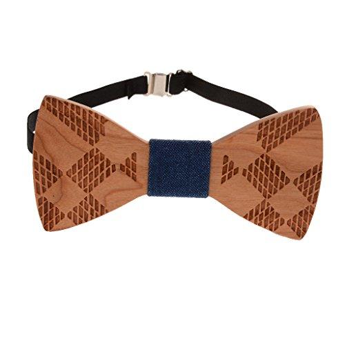 Sharplace Pajarita Corbata de Madera Novedad Ideal para Hombres Fiesta Boda - 1, /