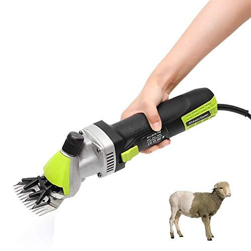 KOQIO Elektrische Hochleistungs-Tierpflegemaschinen & Schafscheren, 6-Fach verstellbare 500-W-Schermaschinen für Ziegen, Schafe, Rinder, Bauernhöfe, Haustiere - Rasierer Schmiermittel