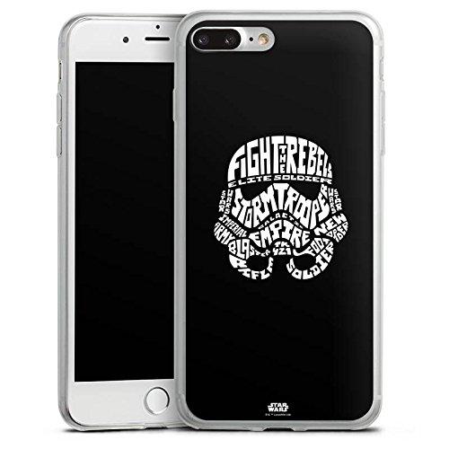 Apple iPhone 8 Plus Slim Case Silikon Hülle Schutzhülle Star Wars Merchandise Fanartikel Storm Trooper Typo Silikon Slim Case transparent