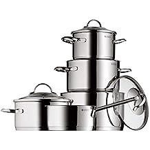 WMF Provence Plus - Batería de Cocina de 5 Piezas, Acero Inoxidable Cromargan, Tapas