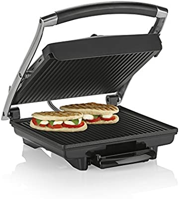 Tristar GR-2848 - Sandwichera grill, color plateado