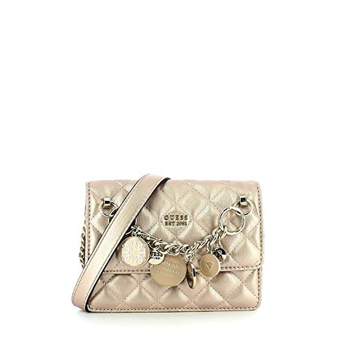 GUESS Victoria Mini Crossbody Champagne