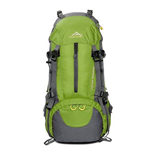 Imagen de 45l+5l  de senderismo impermeable con cubierta lluvia paquete del alpinismo escalada trekking camping deporte al aire libre verde, l  alternativa
