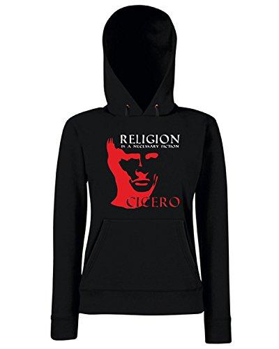 T-Shirtshock - Sweats a capuche Femme OLDENG00442 cicero religion Noir