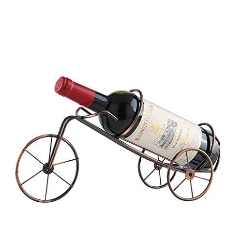 LOFAMI Küche, Haushalt & Wohnen Weinregale Kreative Weinschrank Weinflaschenregal Ständer Eisen Trolley Weinregal Weinhalter Weinschränke Halter & Ständer Weinregale (Color : Bronze) -
