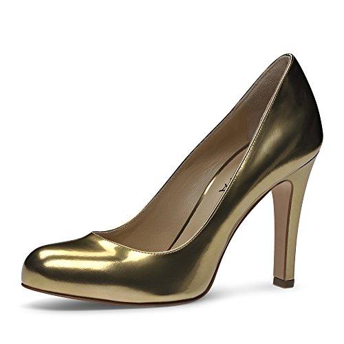 CRISTINA Damen Pumps Brushleder Gold