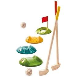 Plantoys- Mini Golf-Full Set, PT5683, Wood
