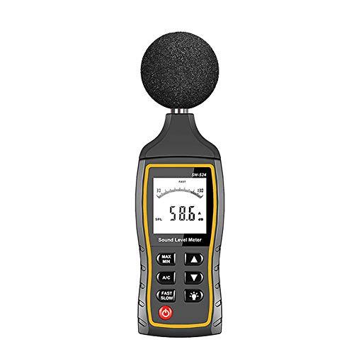 waysad Geräuschpegelmessgerät für Schallpegel-Tester, mit Batterie-Audiomessung, 30 dB bis 130 dB dB mit A und C Frequenzgewichtung, SW524(with Storage and USB)