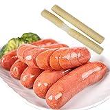 Boyau de Saucisse au collagène Frais Comestible pour la Confection de Peaux de Hot-Dog séchées au rôti d'enveloppes de protéines de soja Parfait pour l'utilisateur Domestique 14m 26mm
