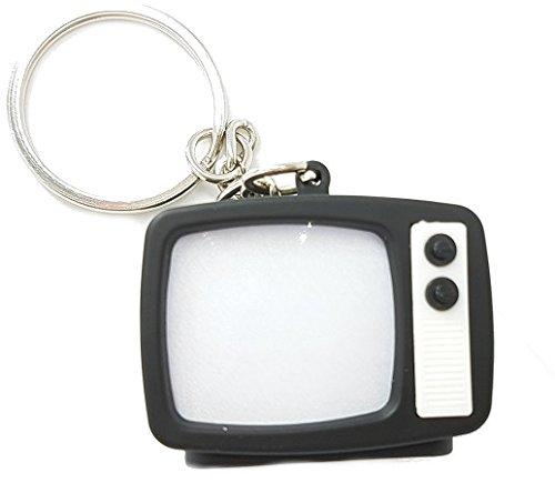 Preisvergleich Produktbild Fernseher TV Schlüsselanhänger mit LED und Sound (rauschen)
