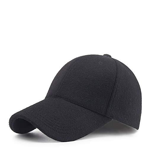 Plus samt Dicke Outdoor nackte Baseballmütze männlich und weiblich mittleren Alters warme Mütze schwarz einstellbar
