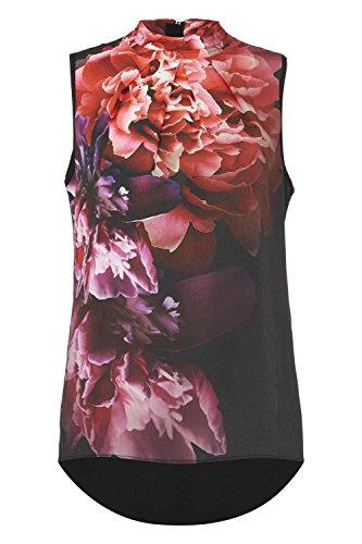 Roman Originals Damen Pink Blumenmuster Rollkragen Top Rosa