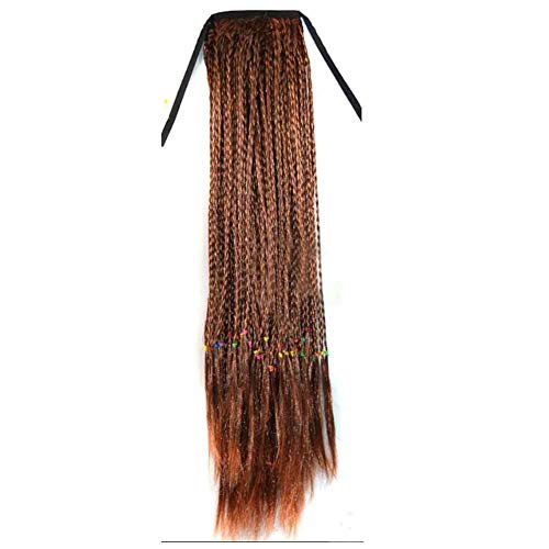 Lavés 50 de perruque de cheveux longs perruque de cheveux synthétiques Extension de cheveux Ponytail