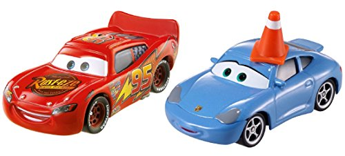 Disney Cars Sally mit Cone und Lightning McQueen Serie Radiator Springs (Disney Pixar Cars Diecast Lizzie)