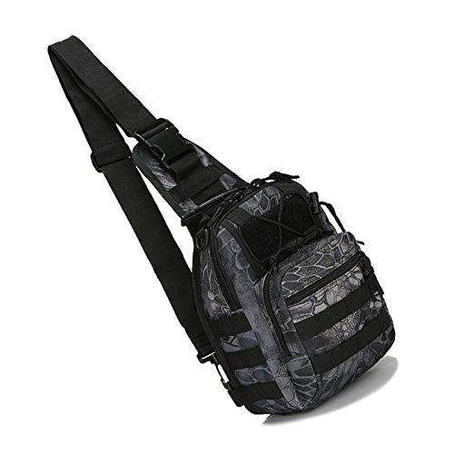 Imagen de bolso de bandolera  sodial r bolso de bandolera de hombro de camping, bolso de bandolera tactico  de bicicletas de sola correa  de senderism piton negro alternativa