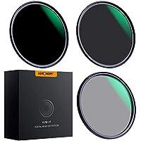 K&F Concept - Kit de Filtros para Objetivo 55mm ND8 ND64 y 55mm Polarizado Circular(CPL) con Funda