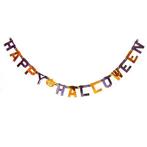 ''Happy Halloween''   Grusel Deko   Partykette   Halloween Accessoires   Kürbis Girlande   Girlande Halloween   Banner Happy-Halloween   Party Ausstattung   Raumdekoration Party   Horror   Preis am Stiel® (Brauchtum Halloween Kind)