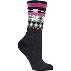 HEAT HOLDERS Lite - Mujer Calientes Térmicos Calcetines Suave Cómodo Divertidos Finos Colores Invierno para Frío 37-42 eu (Rivington)