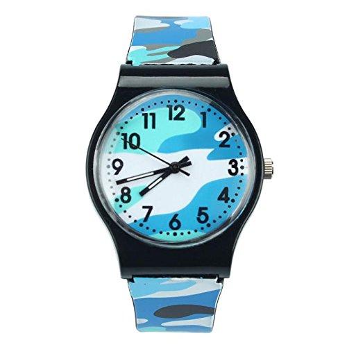 SSUPLYMY Mädchen Camouflage Watch Kinder Casual Watch Boy Fashion Quarz-Armbanduhr Kinder-Uhr Jungen-Uhr Mädchen-Uhr Kinder Analog Quarz Textil Nylon Armband-Uhr Qualitäts Uhrwerk -