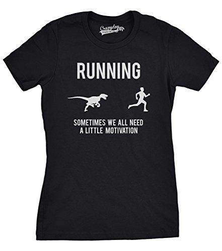 Crazy Dog TShirts - Womens Running Motivation T shirt Funny Running T shirts  Sarcasm Humor Run