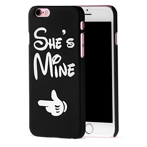 Cuitan Paare PC Frosted Harte Schutzhülle für Apple iPhone 6 / 6s (4,7 Zoll), She's Mine Design Anti-Scratch Rück Abdeckung Case Cover Hülle Handytasche Rückseite Tasche Handyhülle