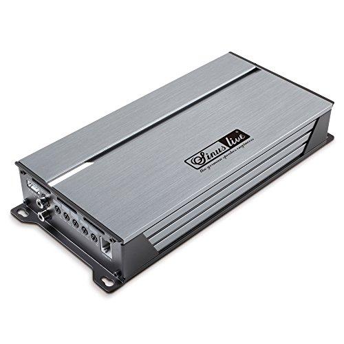 Sinuslive 14243 SL-A1000D Mono digital Endstufe mit Fernbedienung, Grau Metalic/Schwarz, Set of 5