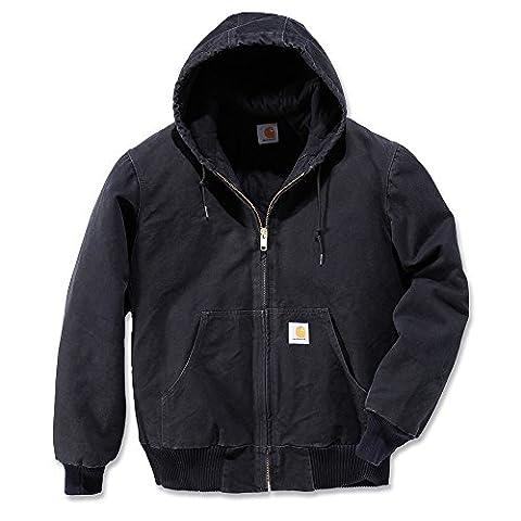 Carhartt Workwear Arbeitsjacke Quilted Flanell Lined Sandstone Active Jacket XL schwarz, J130 (Charakter Jacken)