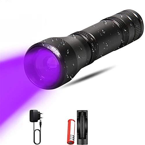 JIASHU Torcia a ultravioletti a Torcia a LED a 5 modalità, con Funzione Zoom, Mini Luce Nera UV, Caccia rilevatore di urina per Animali Domestici, ispezione dell'hotel