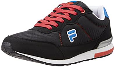 Fila Men's Eliso Black, White, Red and Royal Blue Sneakers -10 UK/India (44 EU)