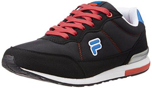 Fila Men's Eliso Black, White, Red and Royal Blue Sneakers -7 UK/India (41 EU) 41r4VeZ9RjL