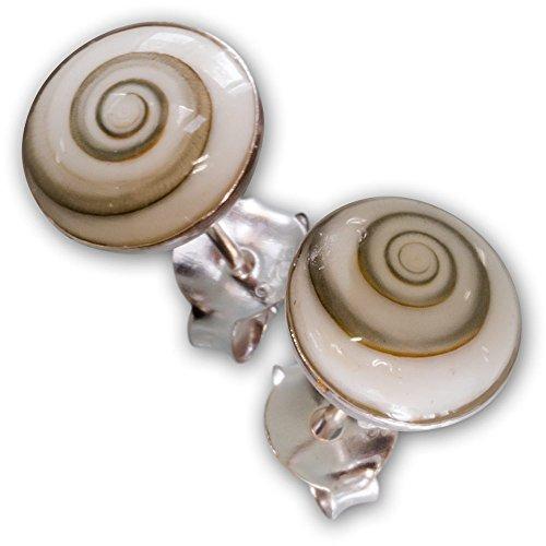 Fly Style Damen Shiva-Auge Ohrstecker Ohrringe echt Silber 925 (6mm - 10mm) earsi057_shiva, Grösse:6 mm