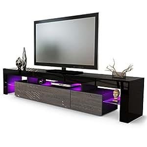 Kofkever Vivaldi Porta Tv Nero e Wengè mobile porta tv soggiorno moderno.Mobili porta tv.
