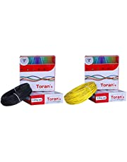D'Mak™ Toran 1.5 sq mm Wire 90(180) Meter Coil (Black and Yellow,Pack of-2)