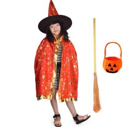HLJZK Halloween Mantel Dress up kostüm Prom kostüm Mantel Junge und Zauberer magier Cape red Mantel Set 80 cm (80 Prom Kostüm)