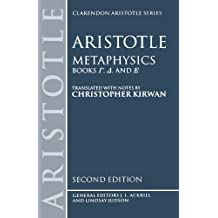 Metaphysics: Books Gamma, Delta, and Epsilon (Clarendon Aristotle Series) (Bks.4-6) by Aristotle (1993-12-09)