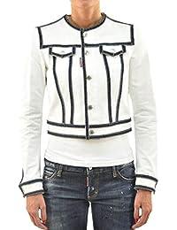 Dsquared2 Giubbino in Jeans con Bottoni - Taglia  40 - Colore  Bianco 16cf636111de