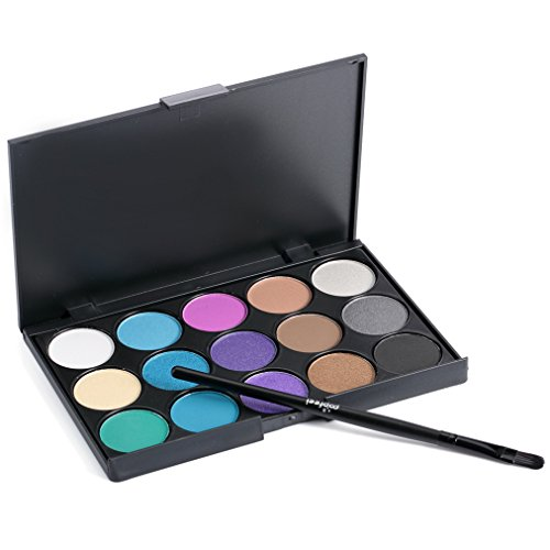 Gracelaza Pro 1 Stück Make Up Pinselset + 15 Farben Lidschatten Palette Makeup Kit #3
