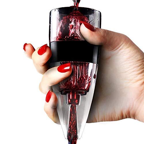 YAJAN-Decanter Verseur aérateur de vin, aérateur Rapide, verseur et Filtre avec présentoir, Accessoire pour Le vin Tools, de Bar Accessoires de Cuisine
