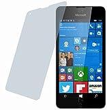 Microsoft Lumia 550 (2 Stück) KRATZFESTE PREMIUM Displayschutzfolie Bildschirmschutzfolie ANTIREFLEX - KRATZFEST UND PASSGENAU