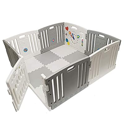 Venture All Stars Duo Baby Playpen Grey