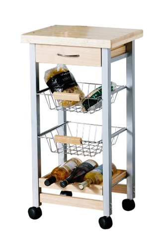 Premier Housewares 1103630 Carrello da Cucina, 4 Livelli, Legno di ...