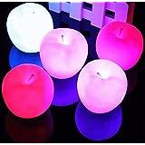 Bluelover Color cambia Apple LED noche Navidad luz lámpara de decoración del partido