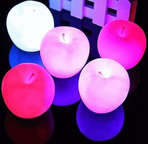Bluelover Farbwechsel Apple Led Licht Weihnachten Party Dekoration Nachtlampe
